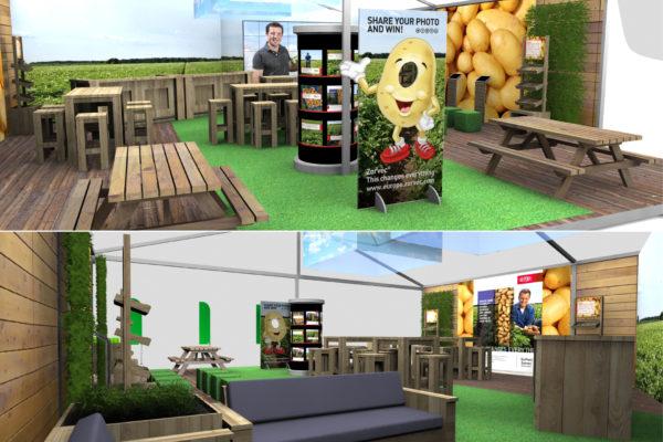 Concept 3D & realisatie stand Potato Europe, Emmeloord