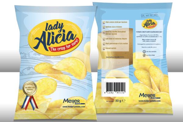 Lady Alicia chipsverpakking - concept & realisatie