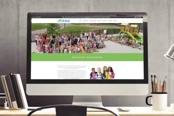 Basisschool De Linde - Website concept & realisatie